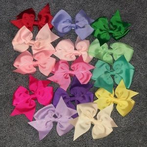 Hair Bows 15 Pack Multicolor